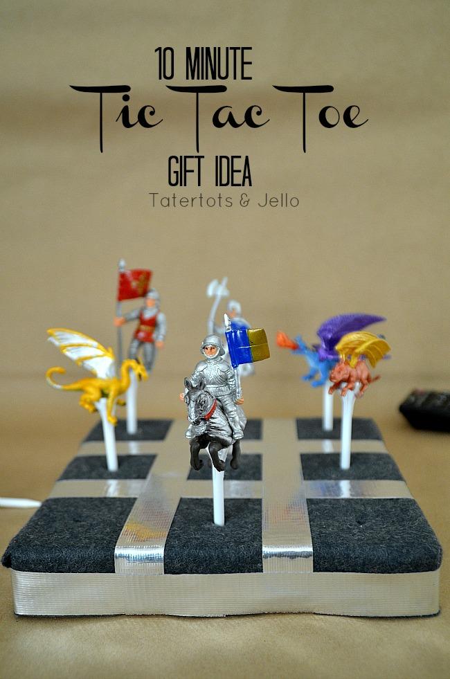 10 minute tic tac toe idea
