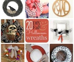 Great Ideas — 20 DIY Fall and Halloween Wreaths!