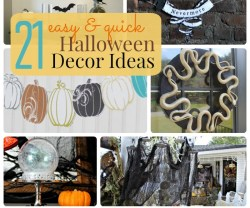 Great Ideas — 21 Easy & Quick Halloween Decor Ideas!