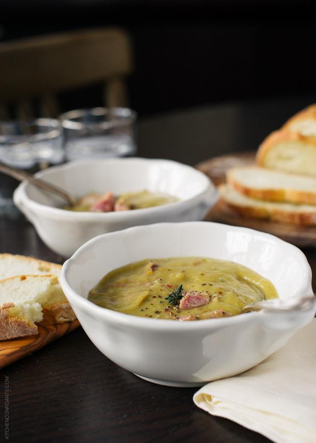 Slow Cooker Split Pea Soup @ Kitchen Confidante
