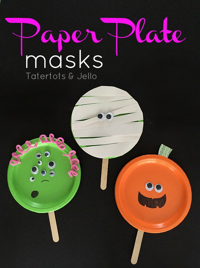 paper plate masks for halloween