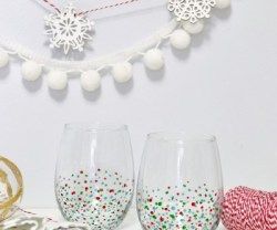HAPPY Holidays: DIY Confetti Glasses