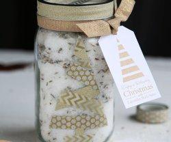 HAPPY Holidays: Lavender Bath Salt Gift in a Jar