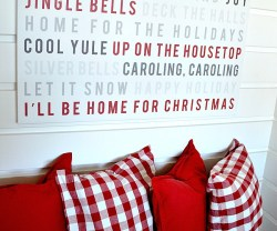 christmas caroling wall art at tatertots and jello