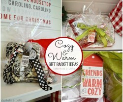 Warm and Cozy Gift Basket Ideas and Free Printable Holiday Gift Tags!
