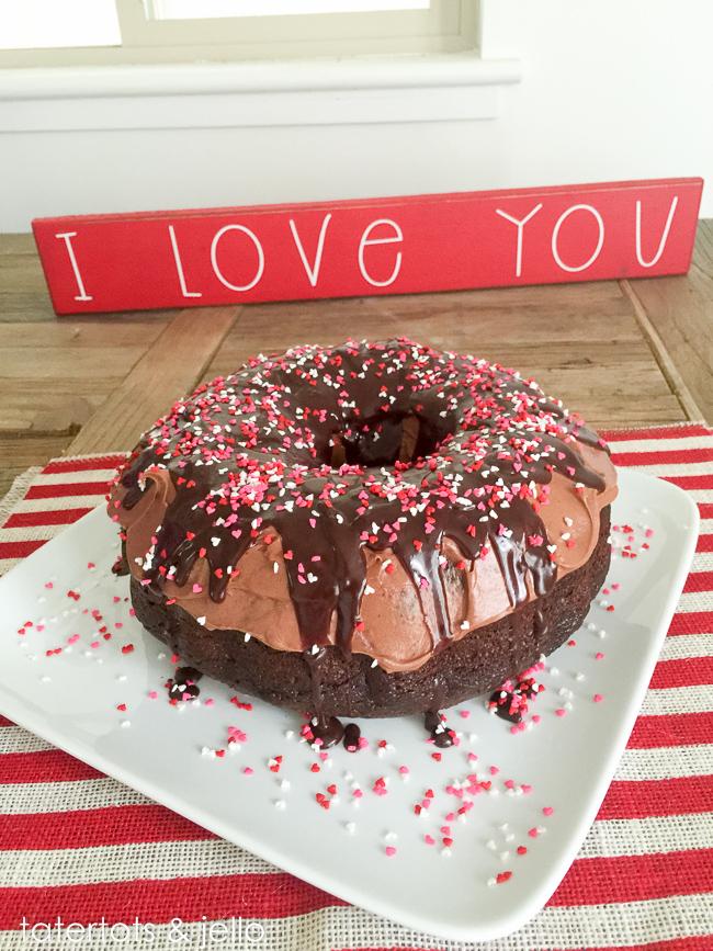 Giant Chocolate Donut Cake Recipe Tatertots And Jello