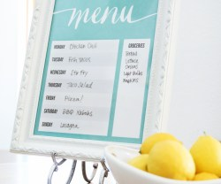 Free Printable Dry Erase Menu Board