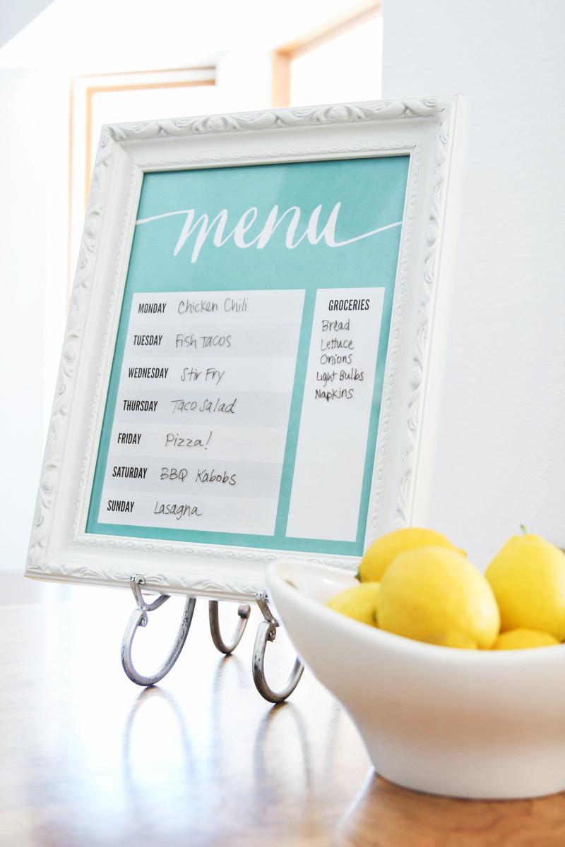 Dry-Erase-Menu-Board