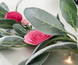 Easy Lighted Spring Flower Garland!