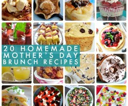 Great Ideas — 20 Homemade Mother's Day Brunch Ideas!