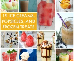 19 Ice Creams Popsicles and Frozen Treats