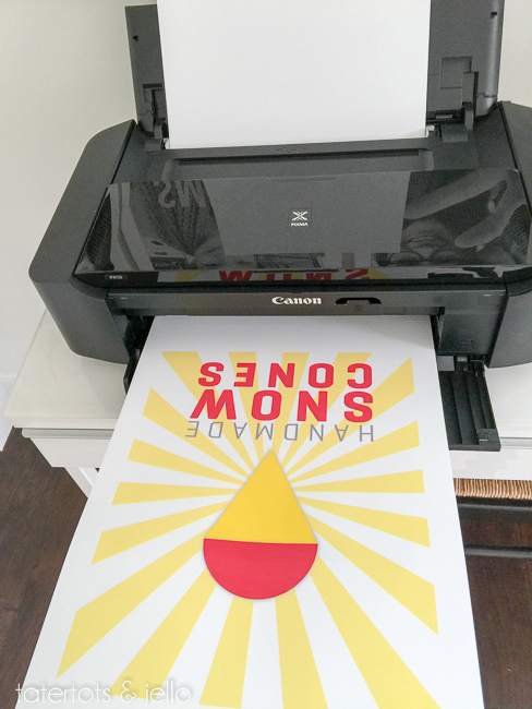 canon large size printer