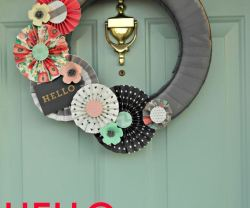 Modern Front Door Wreath