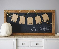 DIY Be Thankful Board and New Gratitude Tradition!