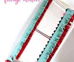 Happy Holidays: No-Sew Fringe Clutch