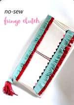 Happy Holidays: No-Sew Fringe Clutch