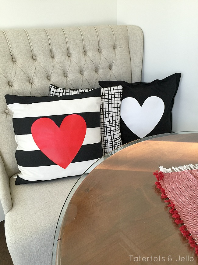 easy 10 minute heart pillow covers