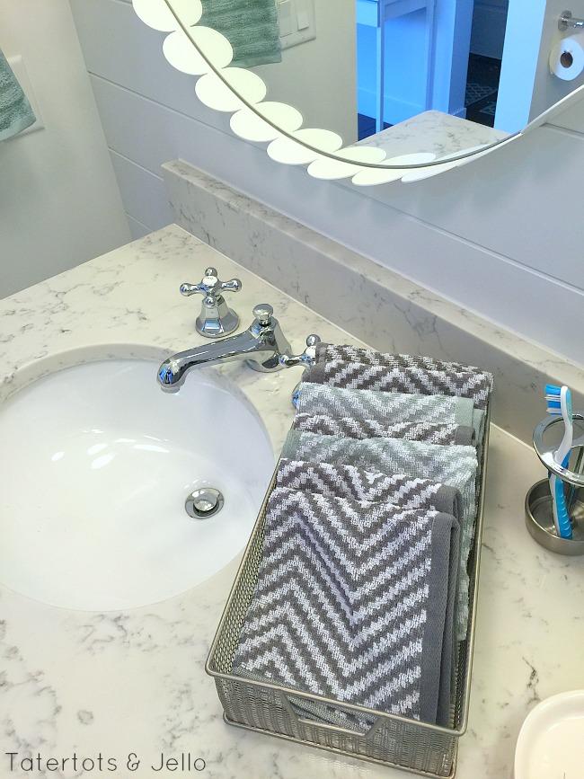 cottage girls bathroom details