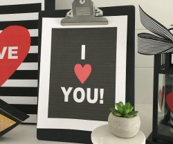 Valentine Black and White Clipboard Printables!