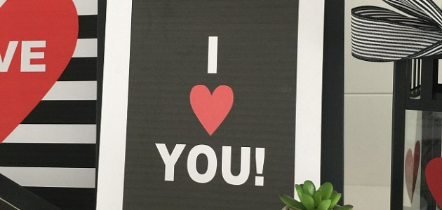 I love you black and white printables