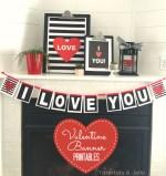 I Love You Valentine's Banner Printable!