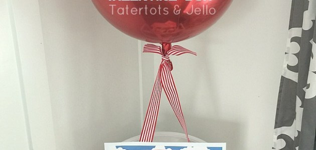 Easy Hot Air Balloon Valentine Box Idea