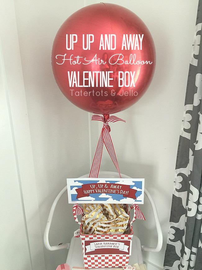 Easy Hot Air Balloon Valentine Box Idea