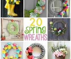 20 Beautiful Spring Wreaths