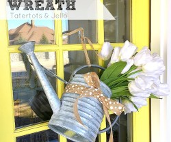 Spring Watering Can Wreath!
