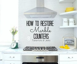 How to Restore Marble Countertops