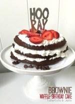 Brownie Waffle Birthday Cake