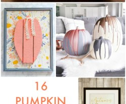 Great Ideas — 16 Pumpkin Decorating Ideas!