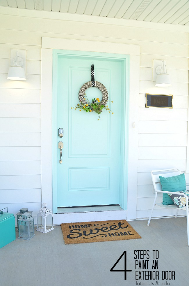 how to paint an exterior door four easy steps for curb appeal. Black Bedroom Furniture Sets. Home Design Ideas
