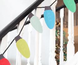 Free Printable Christmas Lights Garland