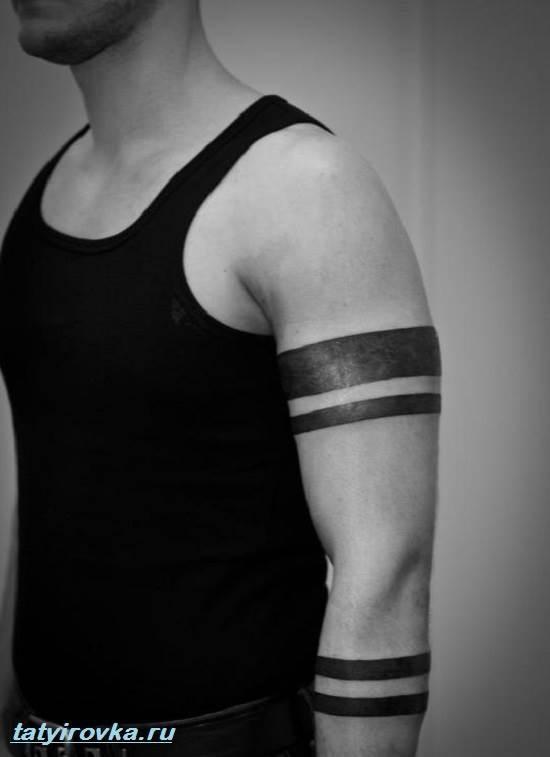 Фото тату полосы на руках 93