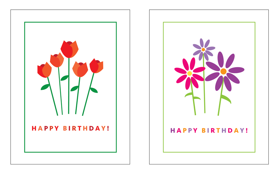 Birthday Blooms cards