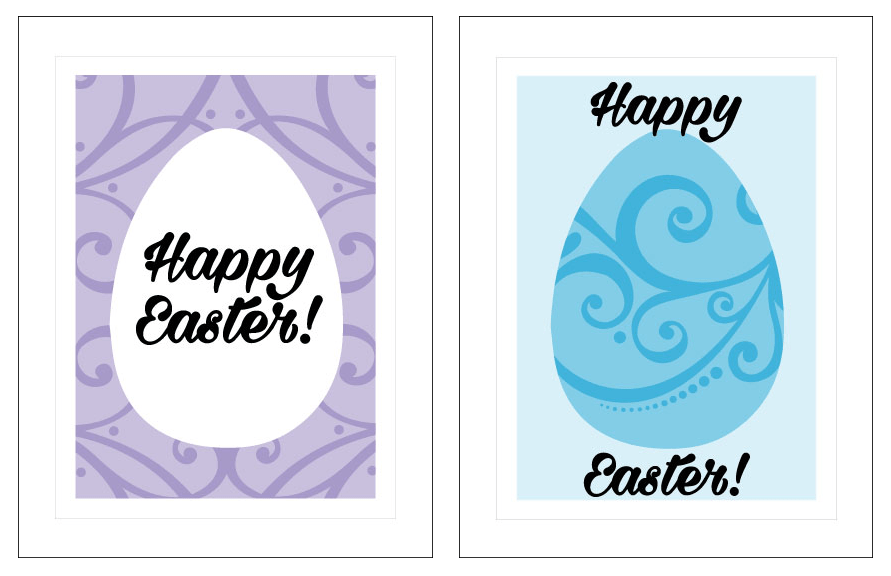 Easter Eggs cards - fronts
