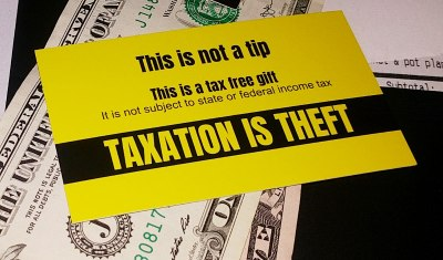 100 Tax Free Tip Cards | Taxation is Theft