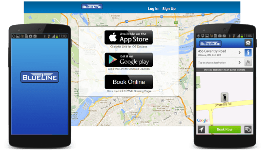 Coventry Connections' BlueLine Taxi App