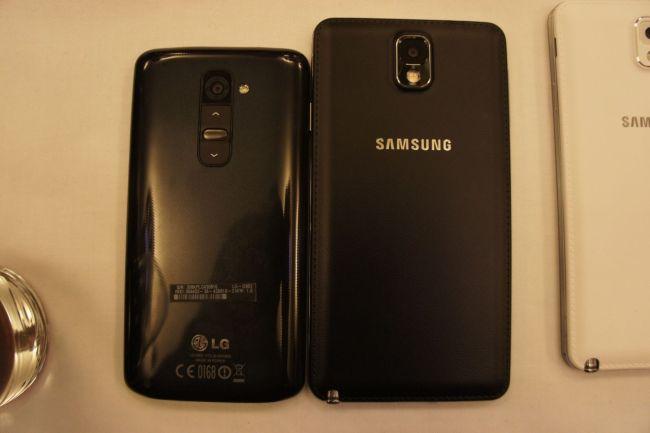 LG G2 und Note 3 Rückseiten