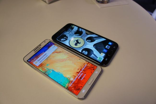 Galaxy Note 3 vs Note 2