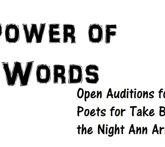Power of Words – Open Audition for Slam Poets for TBTN Ann Arbor 2017