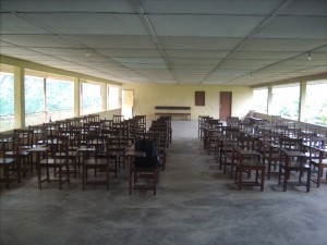 Main hall at the Jonathan Ekong Memorial Seminary in Obot Edom, Nigeria