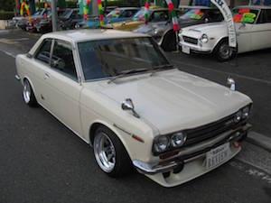 クラシックカー 人間 日本車 国産、2