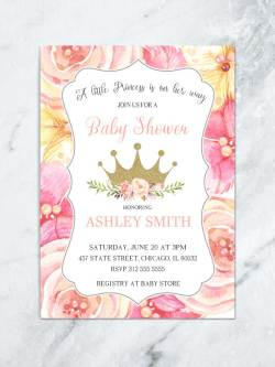 Small Of Princess Baby Shower Invitations
