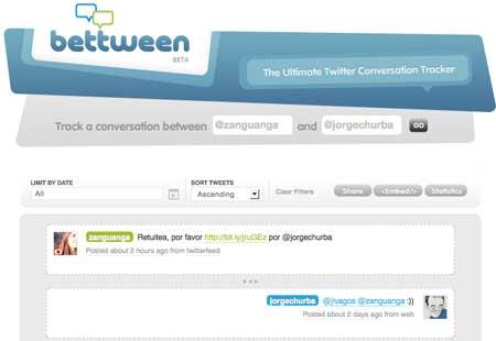 Conversación por twitter