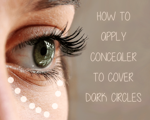 How To Apply Concealer To Cover Dark Circles - Triangle Concealer Method