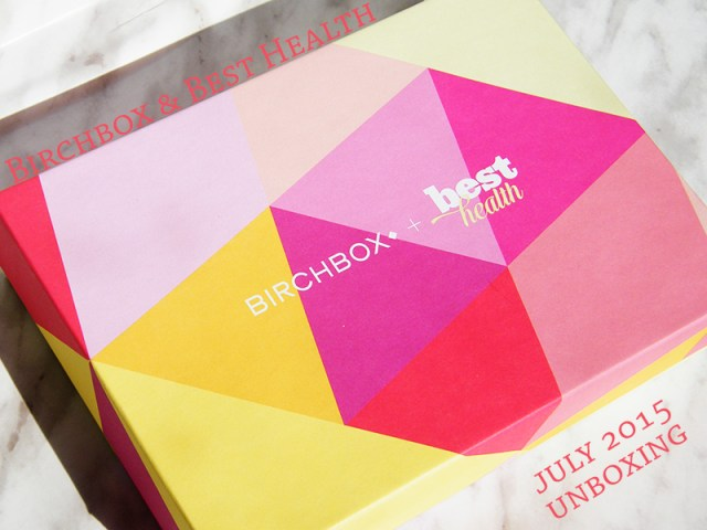 Birchbox Best Health July 2015 Unboxing & Review
