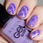 Avon Lavender Sky Geometric Design #31DC2016