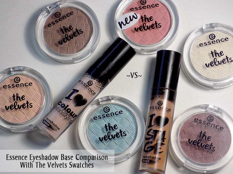 Essence Eyeshadow Bases Comparison with The Velvets